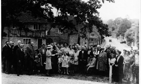Villagers Celebrate V-E Day, May 1945