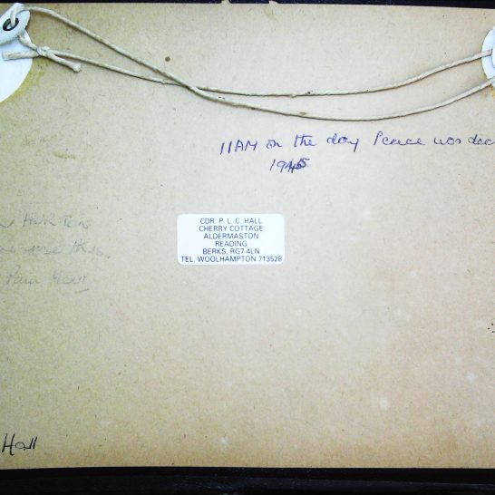Reverse of V E Day Picture