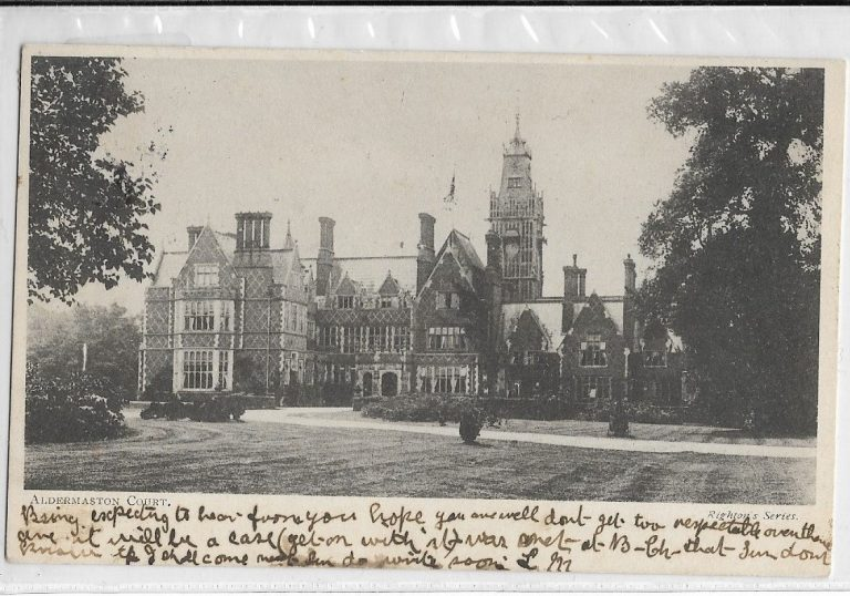 Postcard Aldermaston Court