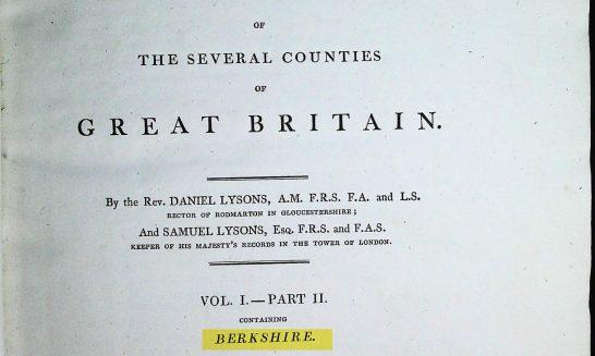 Magna Britannica Volume 1 Part 2 Berkshire (1813)
