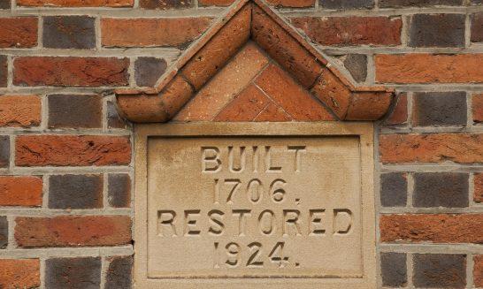 Date plaque, 3 & 4 Dixon's Cottages, Church Road, Aldermaston
