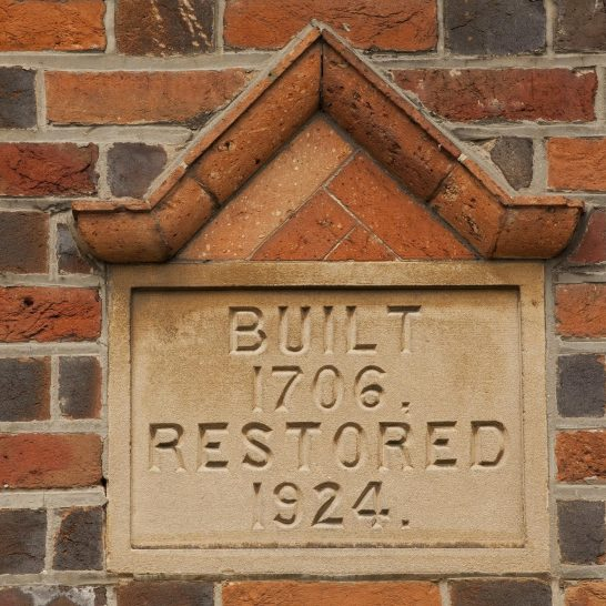 Date plaque, 3 & 4 Dixon's Cottages, Church Road, Aldermaston | Peter Oldridge