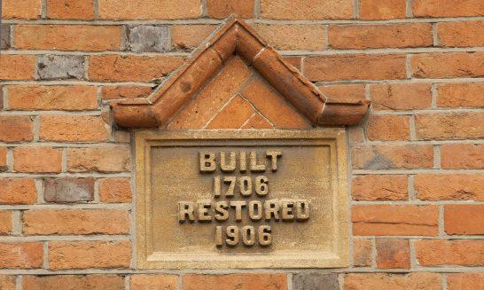 Date plaque, 1 & 2 Dixon's Cottages, Church Road, Aldermaston