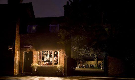Aldermaston Antiques at night