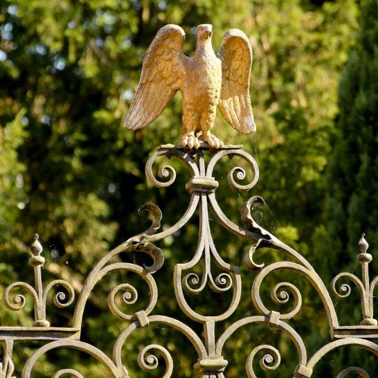 Detail of Eagle Gates, Aldermaston Park, Aldermaston | Peter Oldridge