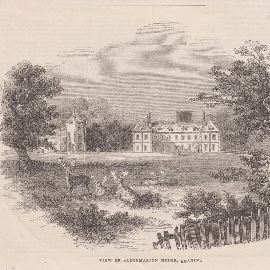 Aldermaston Court engraving from a newspaper cutting