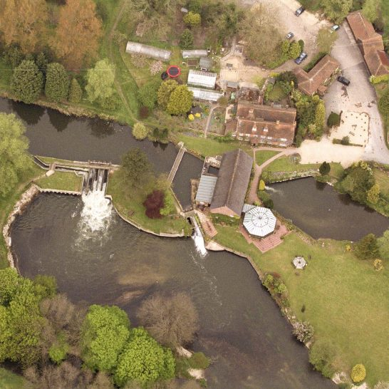 The Old Mill Aldermaston- aerial view