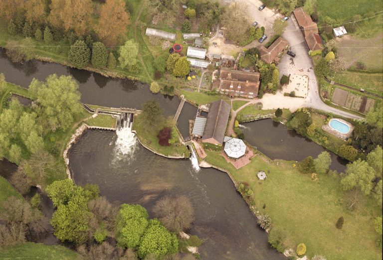 The Old Mill Aldermaston- aerial view | Peter Oldridge