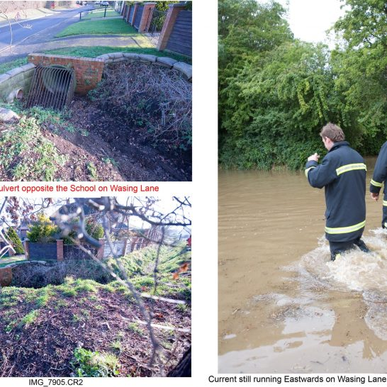 Photos of 2007 flood and after in Aldermaston