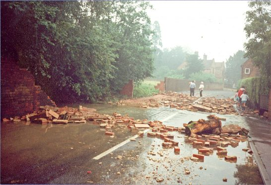 Church Road after the flood | Photographer unknown