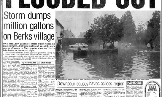 1989 Flood - press coverage