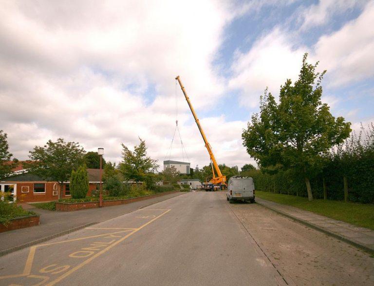 Aldermaston School, Portacabin delivery (2) | Peter Oldridge