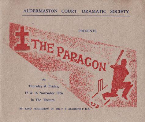 """""""The Paragon"""" Programme, Aldermaston Court Drama Society"""