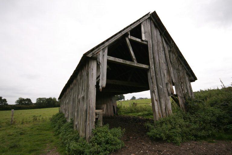 Timber Barn in field of Church Farm, Aldermaston