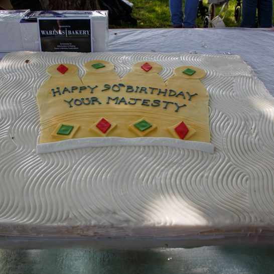 Queens 90th - celebration cake
