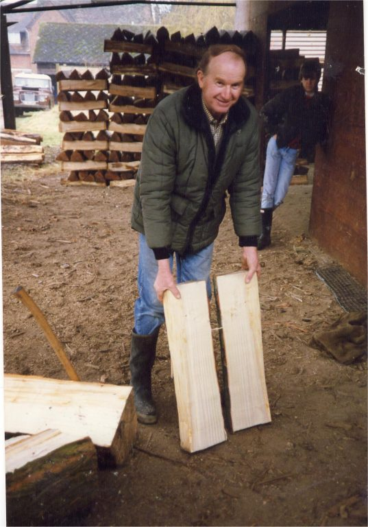David Luker with willow clefts