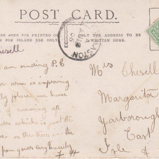 Postcard of St Mary's circa 1905 (Reverse)