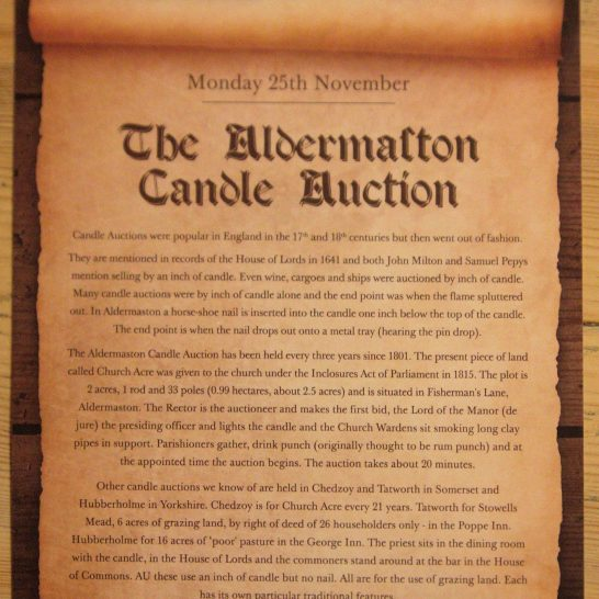 2013 Candle Auction Poster | The Hinds Head