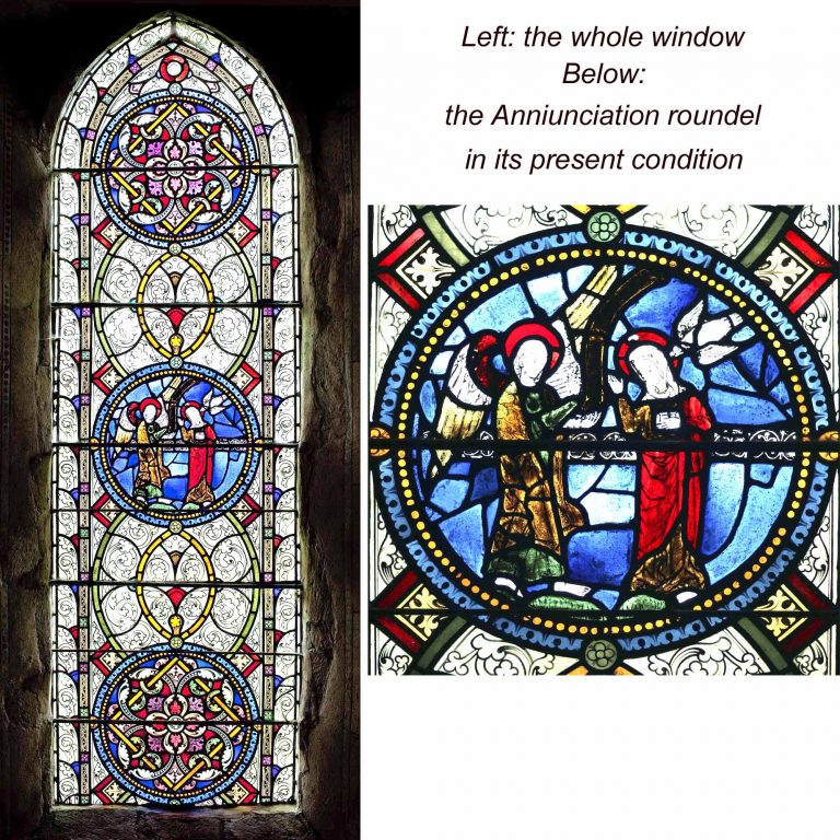 Aldermaston church windows