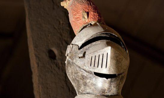 Sir George Forster's Helmet in Aldermaston Church-photo 1