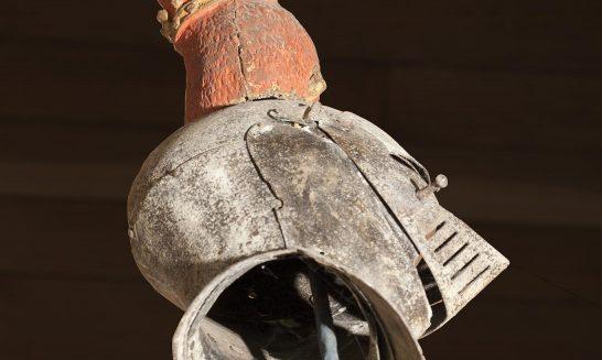 Sir George Forster's Helmet in Aldermaston Church- photo 2