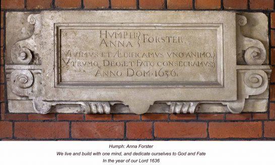 Manor House 1636-foundation stone