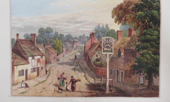 Aldermaston Village in 1819