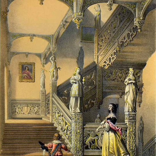 Staircase in the 1636 house