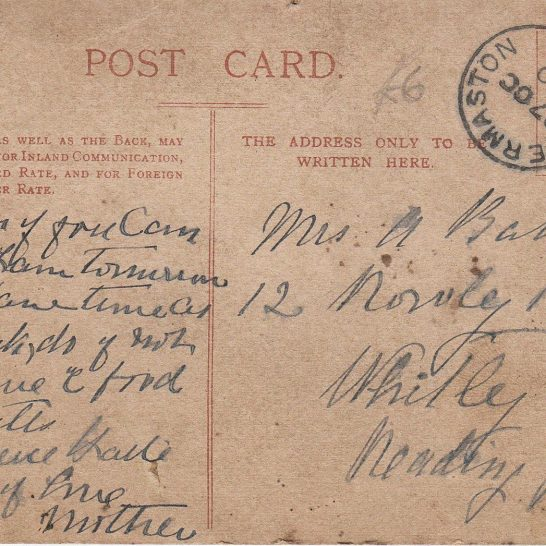 Postcard The Street c1920 (Reverse)