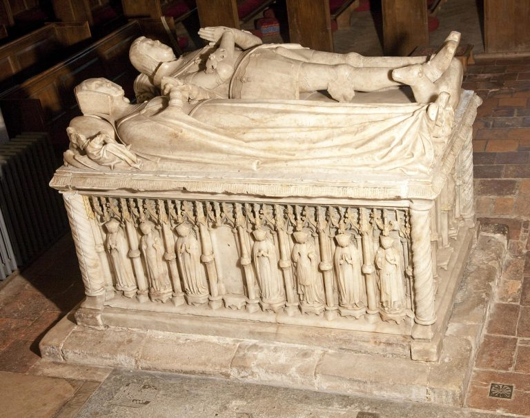 Tomb of Sir George Forster in Aldermaston Church- view from the Lady Chapel