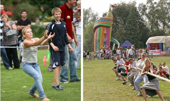 Aldermaston & Wasing Show: egg-throwing, Tug of War