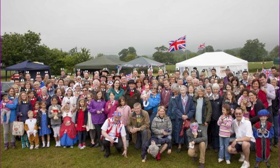 Queen's Diamond Jubilee celebration, 3.6.2012 with numbers for index of names
