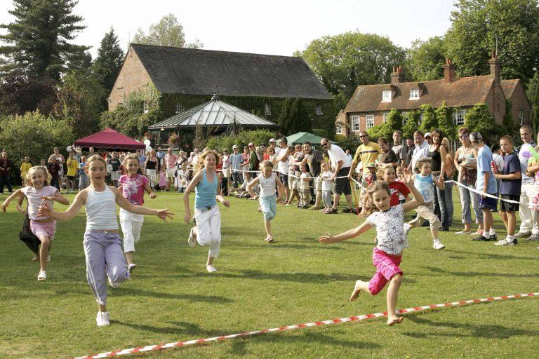An ever-popular event- children's races.