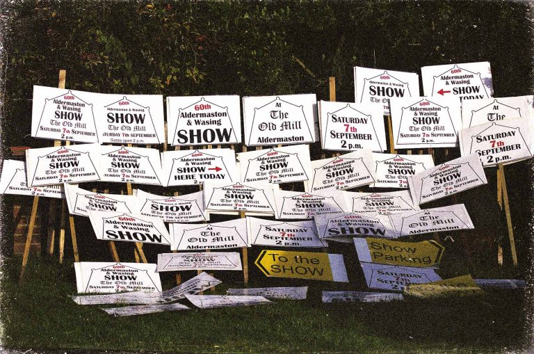 Finally, after the Show the posters are dried and then stored ready for the following year. | Peter Oldridge