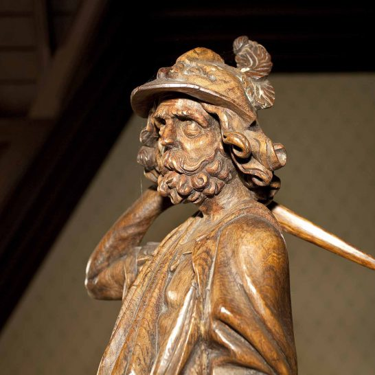 Head of previous statue- Mercury?