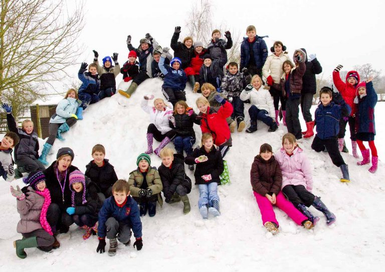 Snowy Aldermaston- the children enjoy!