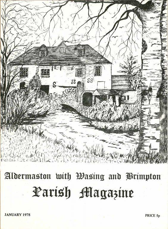 Parish mag cover- Brimpton Mills