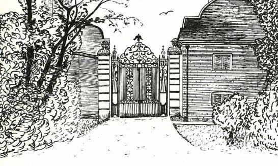 Parish mag cover- Eagle Gates