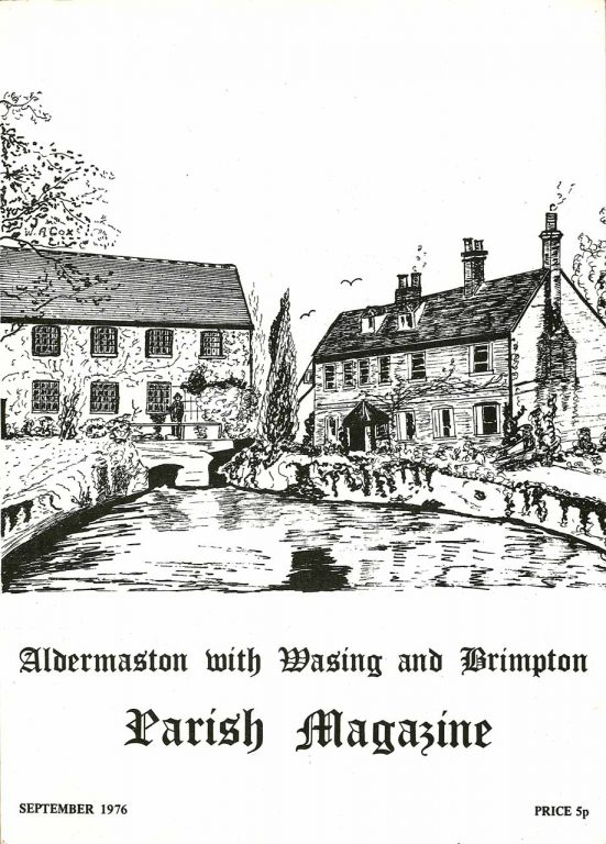 Parish mag cover- The Old Mill, Aldermaston
