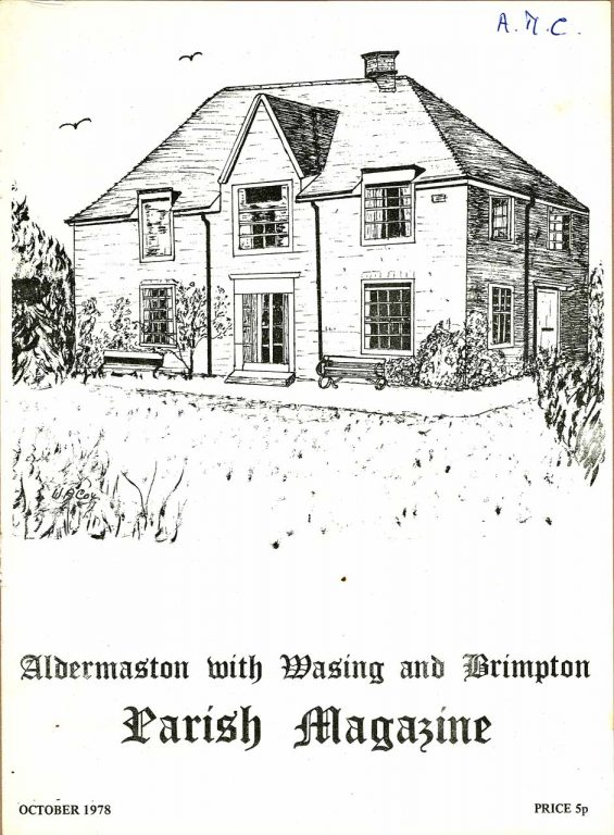 Parish mag cover- Aldermaston Rectory