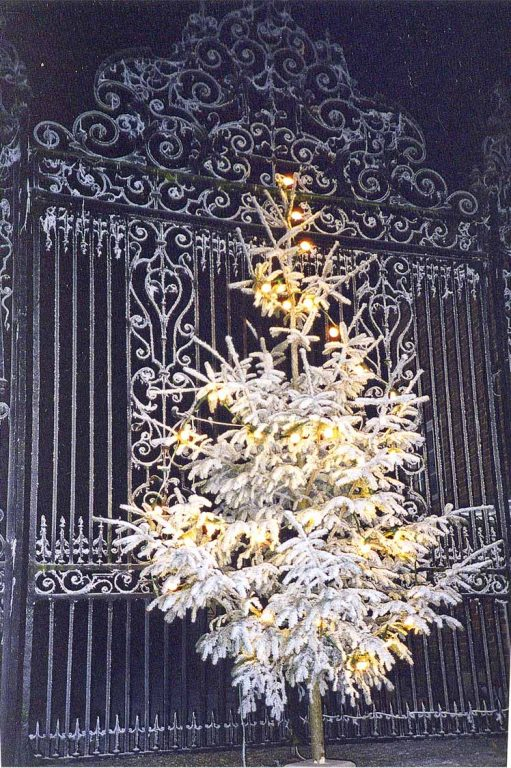 Snowy Aldermaston- Eagle Gates Christmas Tree