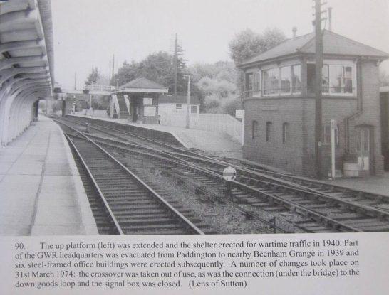 View from the north platform, showing additional platform shelter | Middleton Press/Lens of Sutton