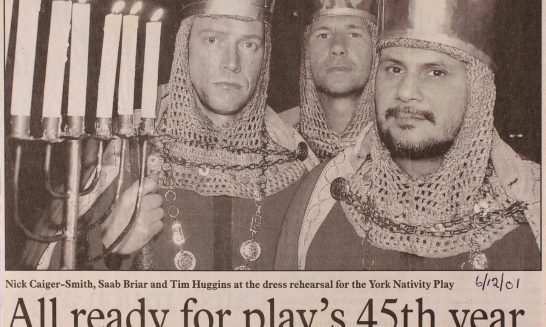 2001 York Nativity Play newspaper cuttings