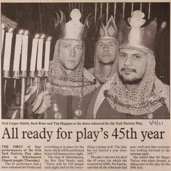 2001 York Nativity Play