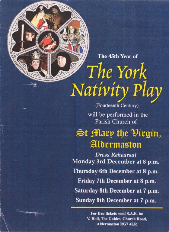 2001 York Nativity Play Poster