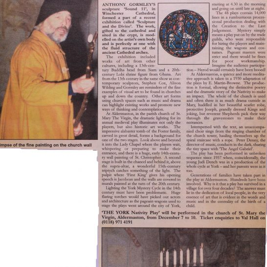 2000 York Nativity Play newspaper cuttings