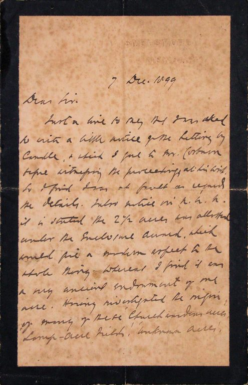 1899-Letter | Church Archives