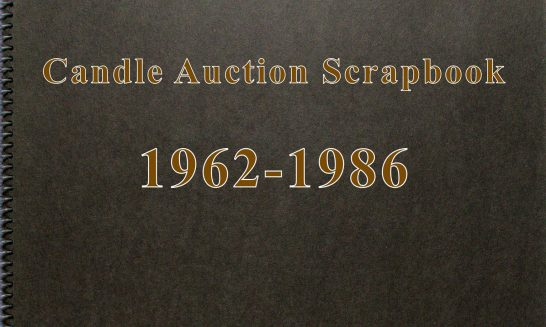 Candle Auction Scrapbook 1962-1986