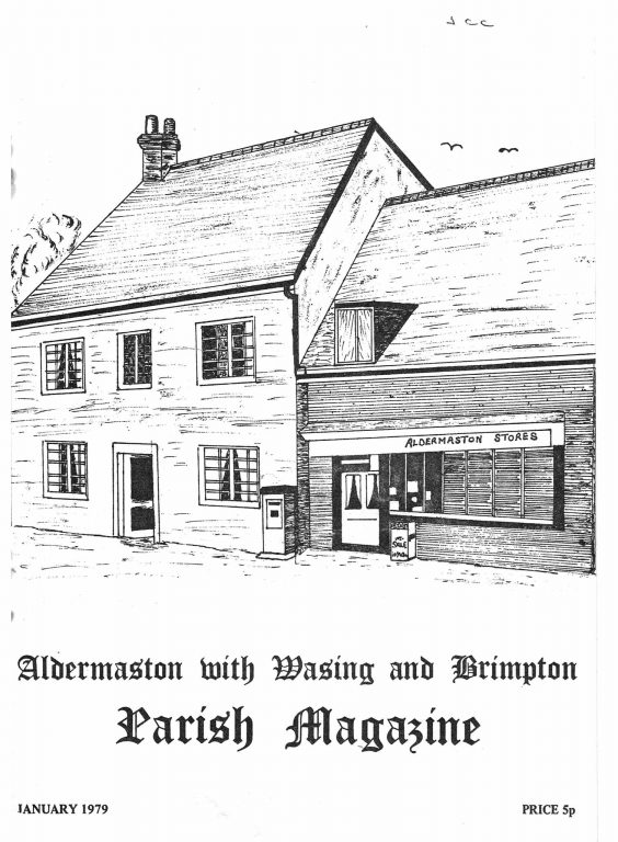 Parish Mag cover- Aldermaston Stores, Jan 1979