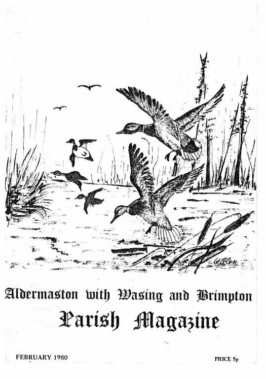 Parish mag cover-Ducks, Feb 1980
